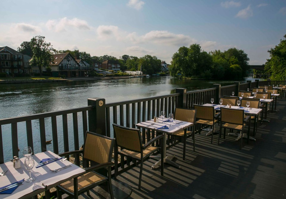 riverside view at our maidenhead restaurant
